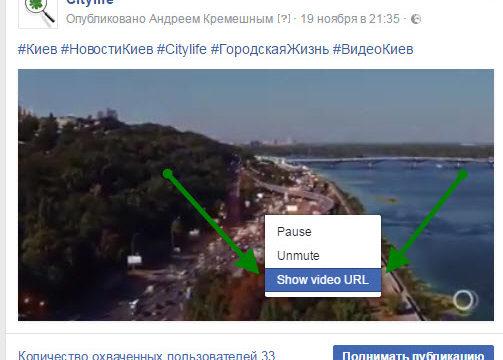 Как загрузить видео из Facebook без программ