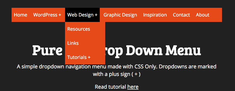 Pure CSS DropDown Menu
