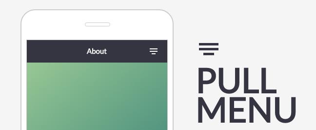 Pull Menu — Menu Interaction Concept