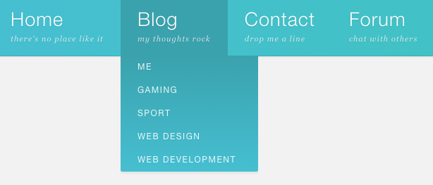 CSS 3 Dropdown Menu
