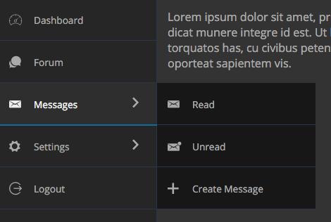 Pure CSS Dark Inline Navigation Menu