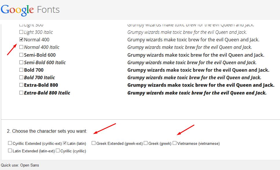 Способ 1 - Google Fonts