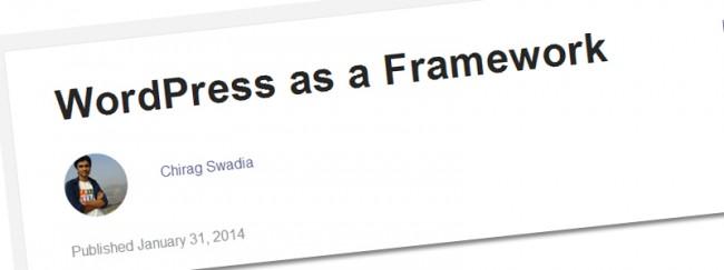 WordPress как фреймворк