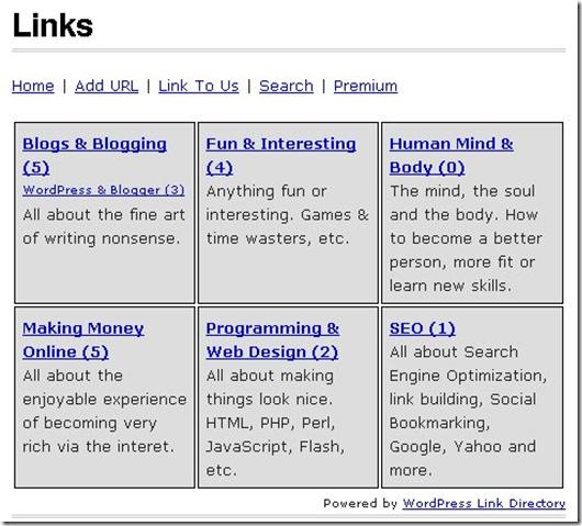 Создание каталога сайтов