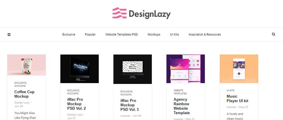 Главная сайта designlazy