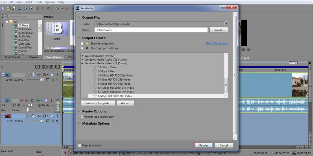 В появившемся окне выбираем папку, в которую будет сохранен файл, вводим его имя и отмечаем подходящий формат