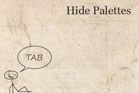 9. Скрыть / Показать окна и панель инструментов