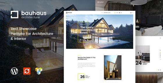 Bauhaus - Архитектурный шаблон WordPress
