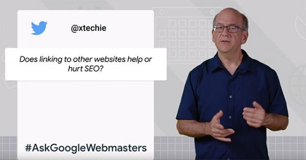 Темой первого видео в серии #AskGoogleWebmasters стали исходящие ссылки