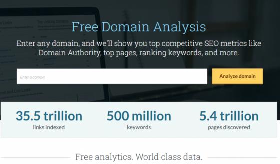 Moz запустил новый бесплатный инструмент Domain Analysis