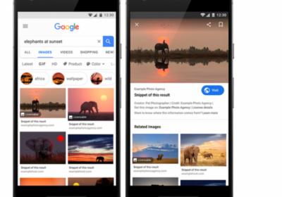 Google тестирует новые метаданные для лицензируемых изображений