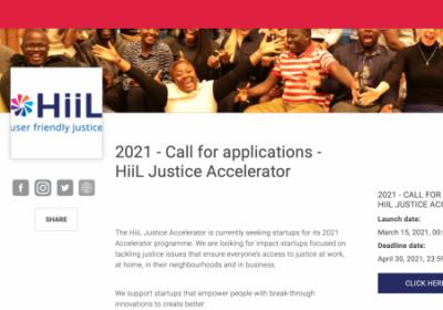 HiiL Justice Accelerator ищет команды из Украины. Победителям — гранты до 30 000 евро